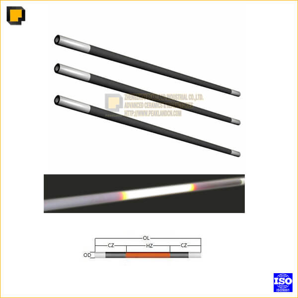 straight type silicon carbide heating elements