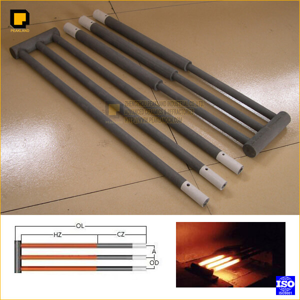 w type silicon carbide heating elements