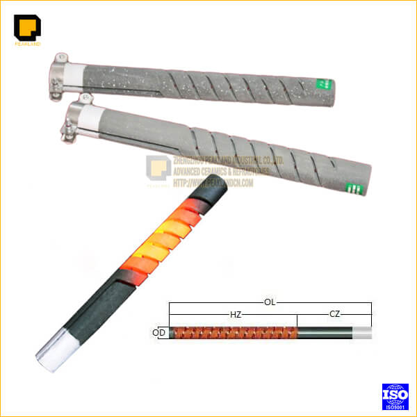 double spiral Silicon Carbide Heating elements